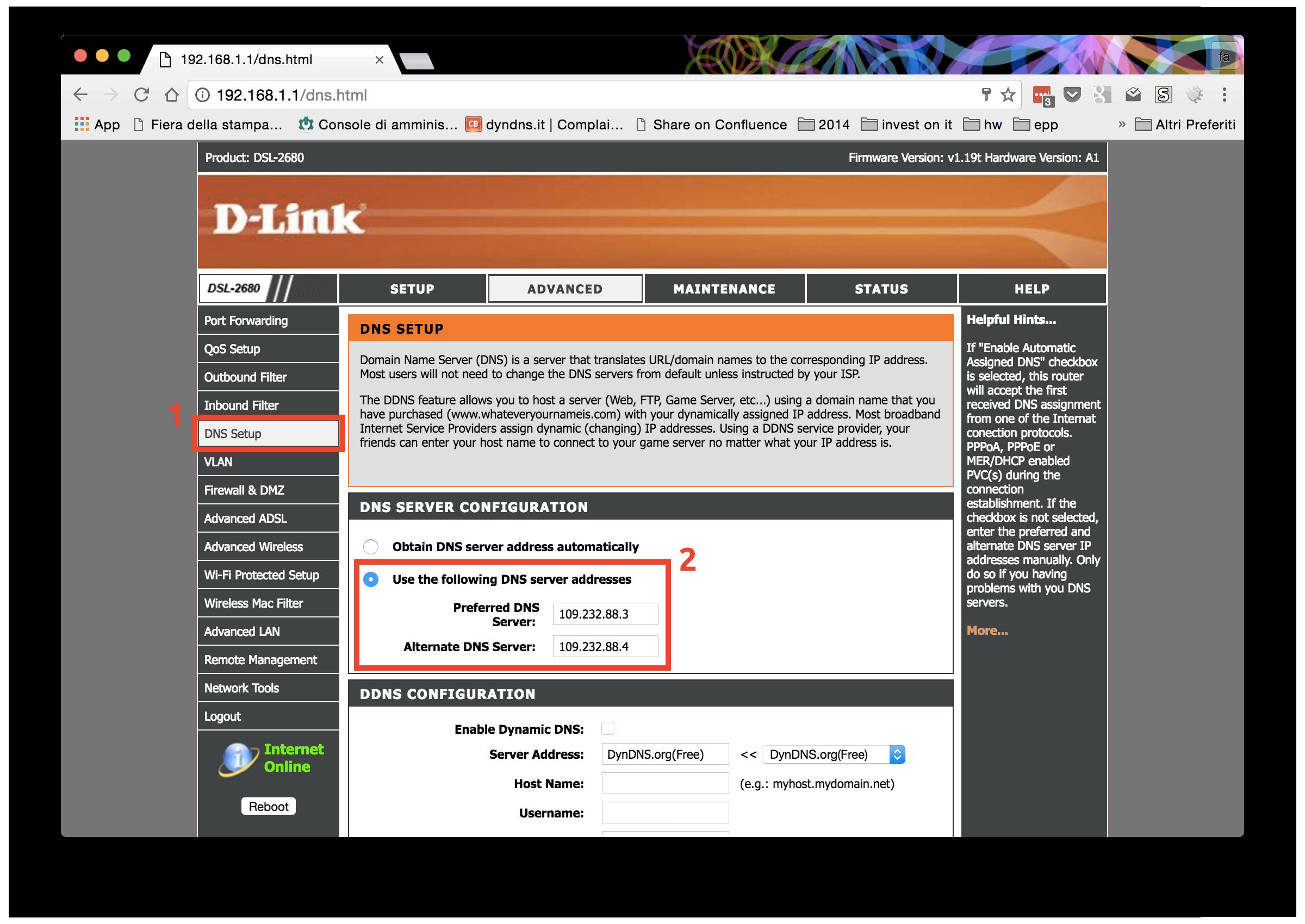 Configurazione dynDNS.it per D-Link - dynDNS.it - DNS dinamico gratuito